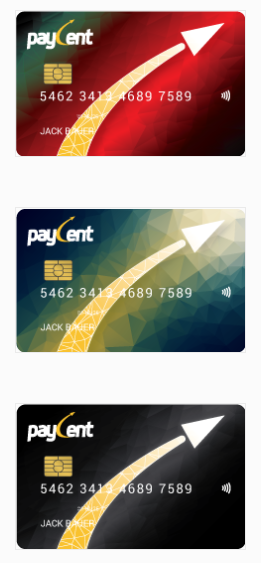 Paycent Card Different Cards