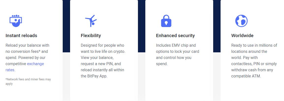 Bitpay Card Advantages