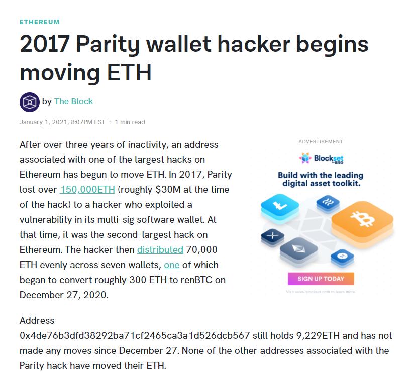 Parity Wallet Hacker