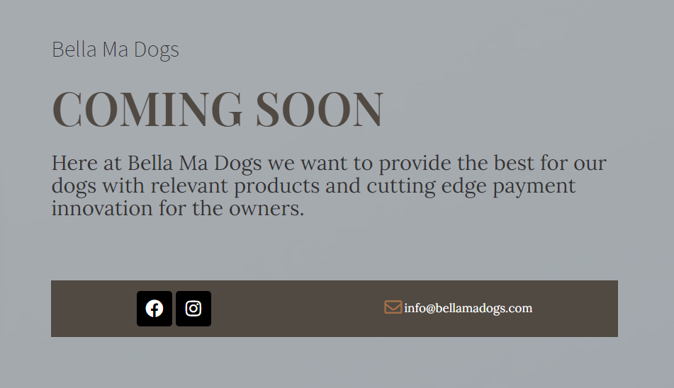 Bella Ma Dogs Coming Soon