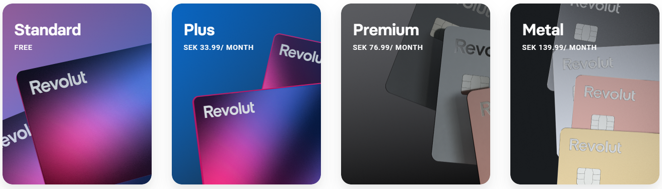 Revolut Card Different Versions