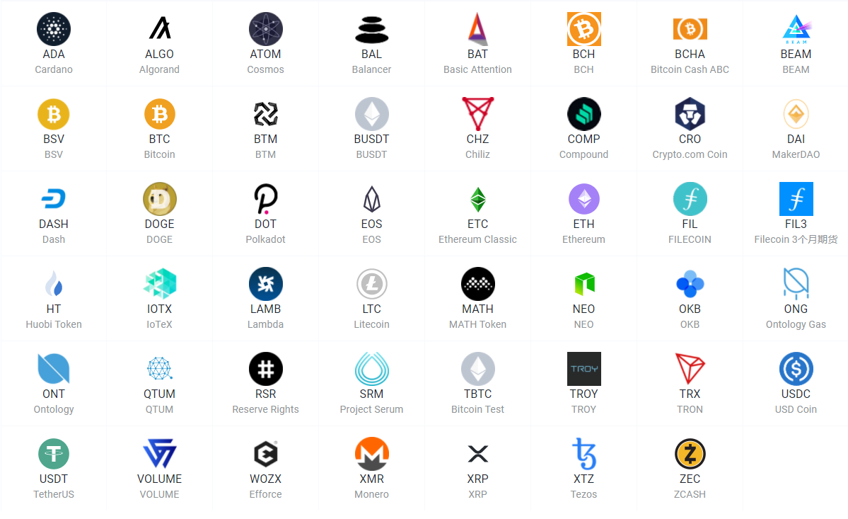 Xtheta Global Supported Cryptos