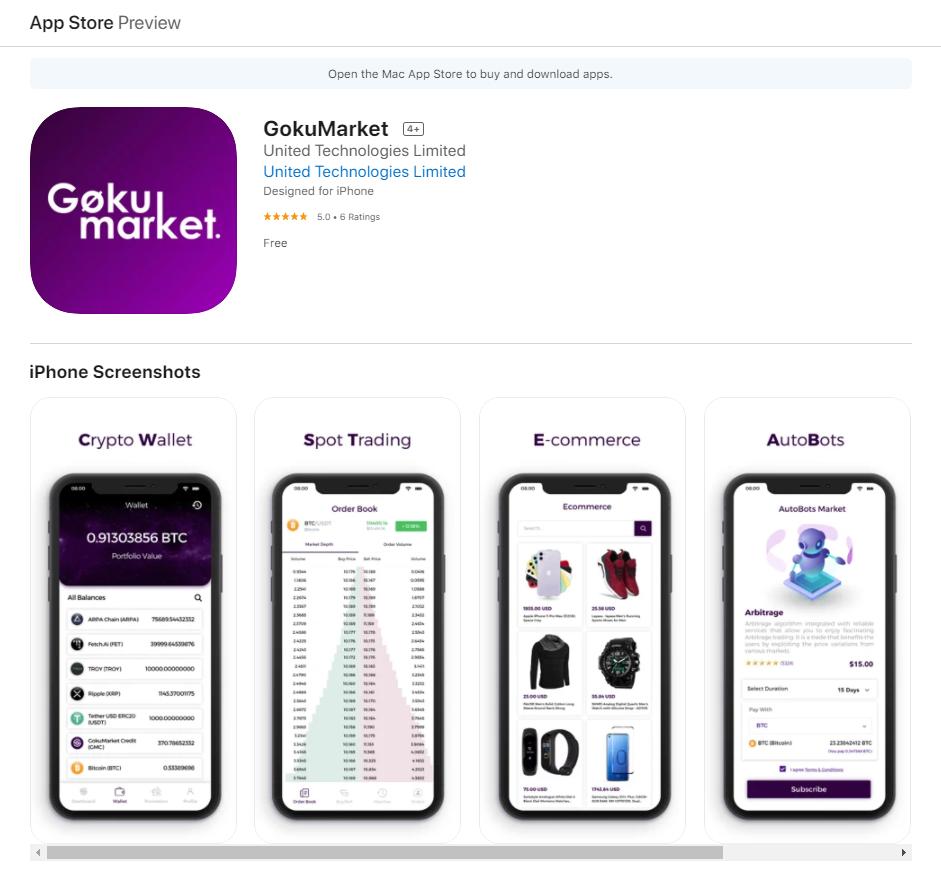 GokuMarket Mobile Support
