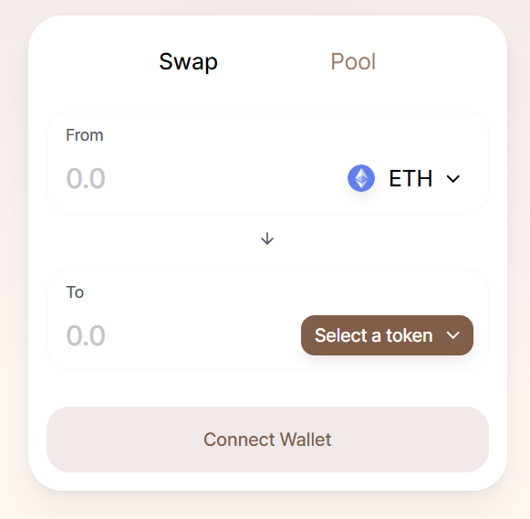 SushiSwap Purchase Interface