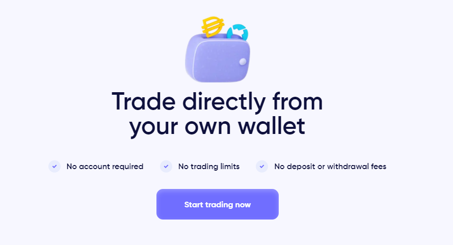 0x Protocol Exchange Trade Directly from Wallet