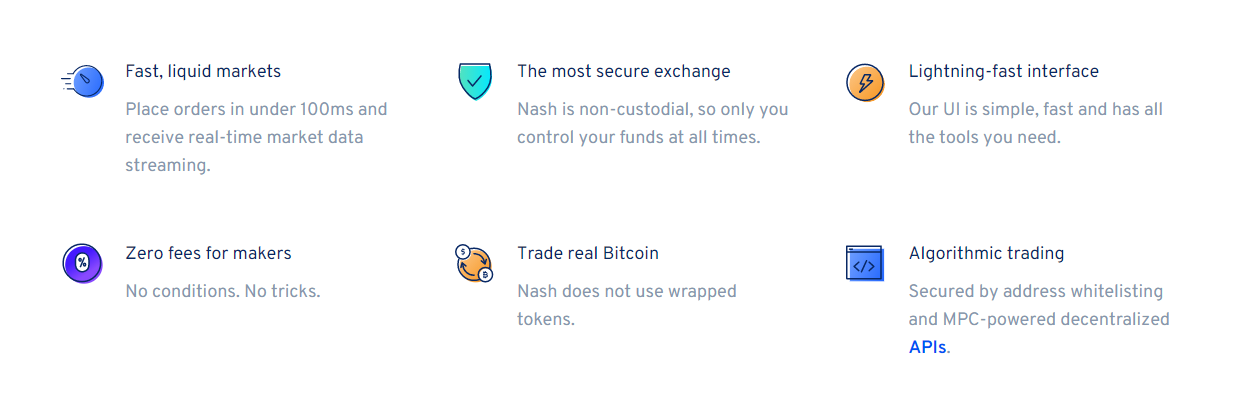 Nash Exchange Advantages