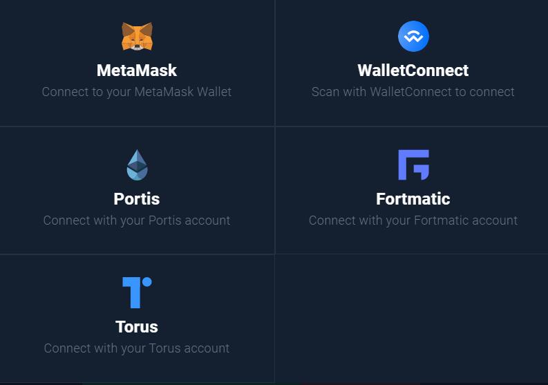 dex.blue Compatible Wallets