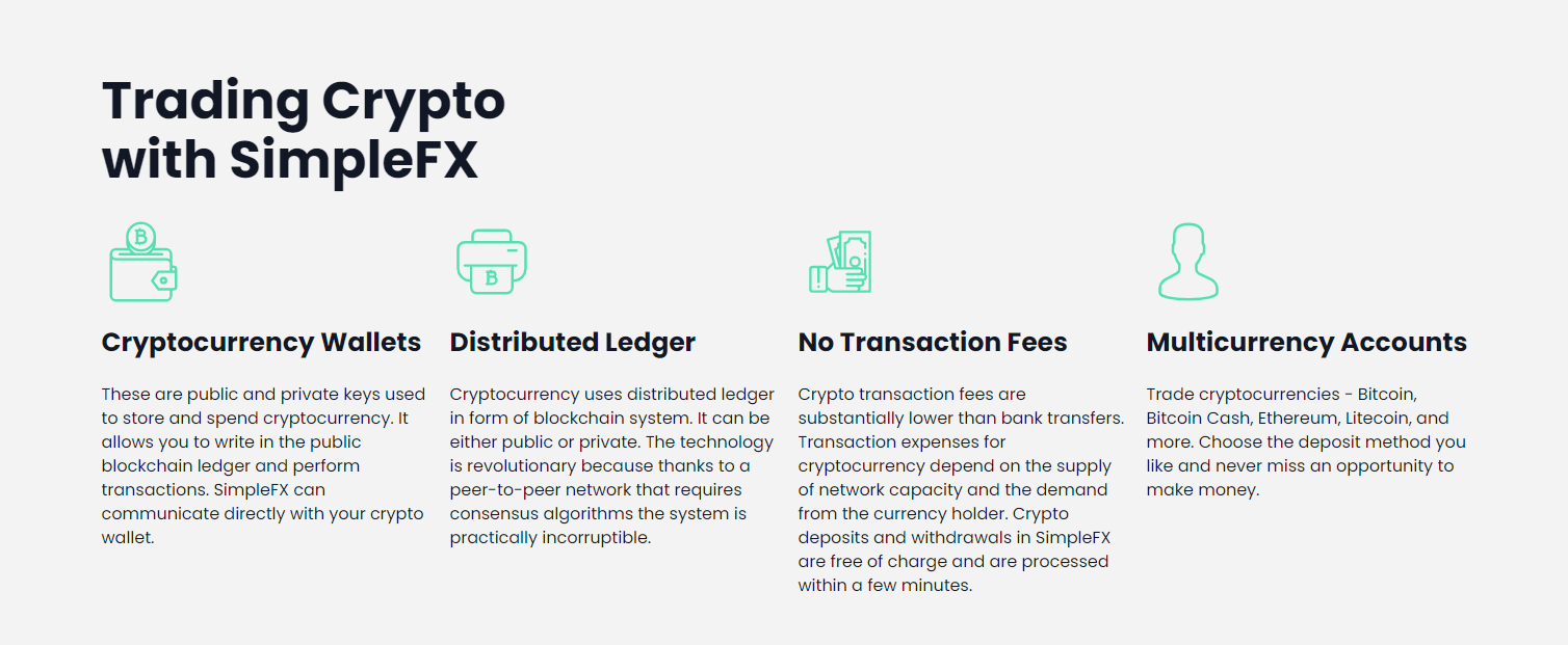 SimpleFX Trade Crypto