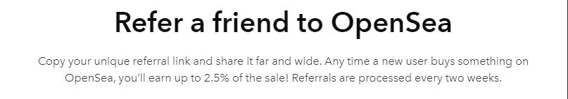 OpenSea Referral Program