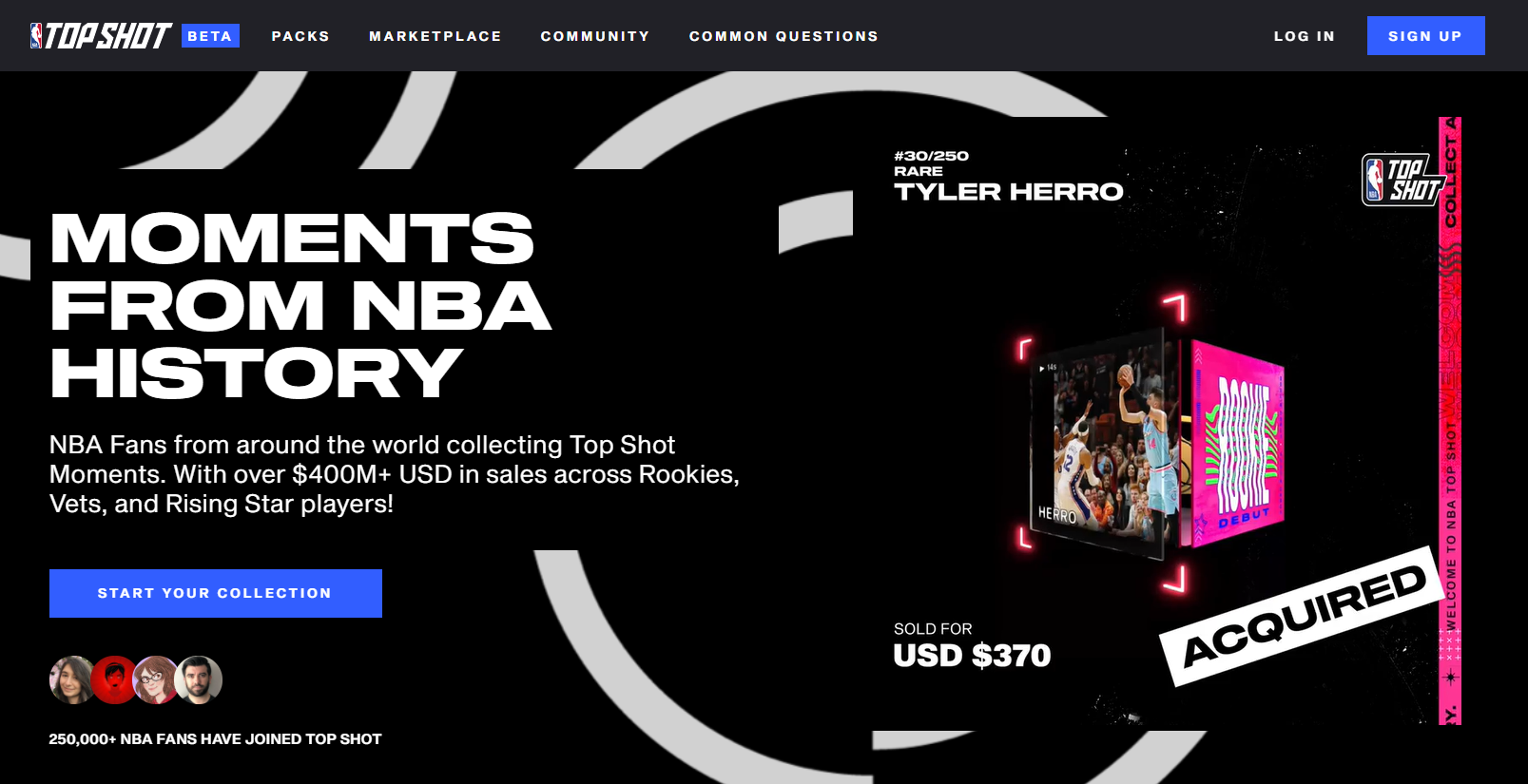NBA Top Shot Marketplace Focus