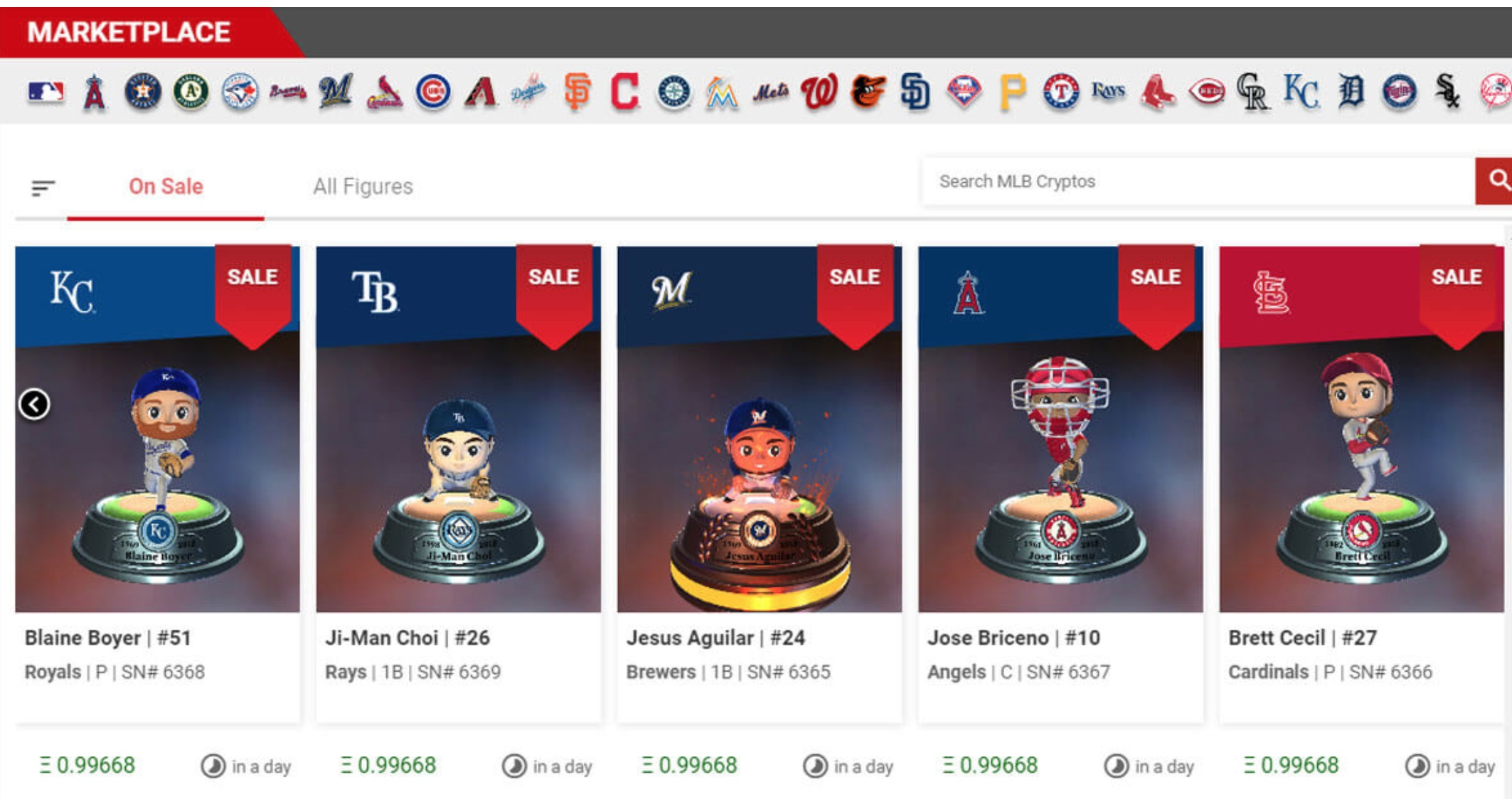 MLB Champions Marketplace General Layout