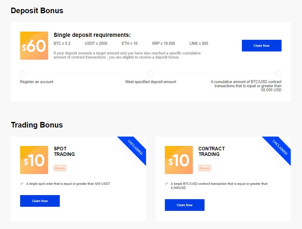 Phemex Bonuses Updated