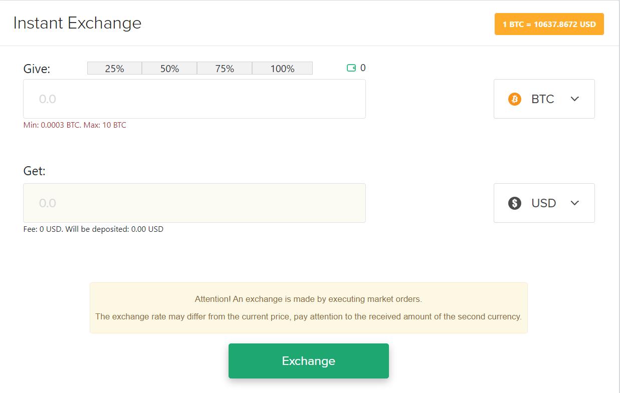 Polyx Exchange Instant Exchange