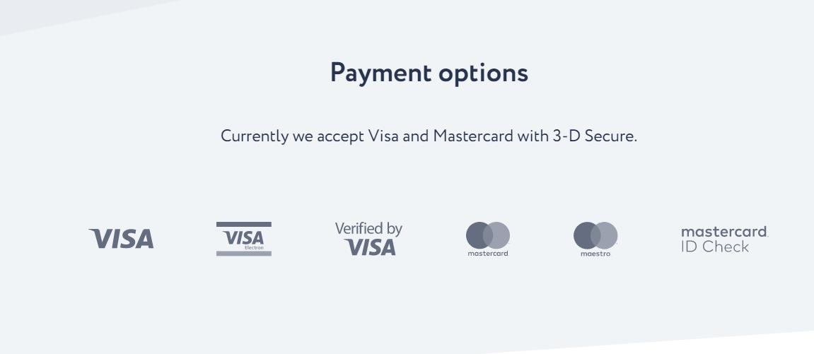 Itez.com Payment Methods