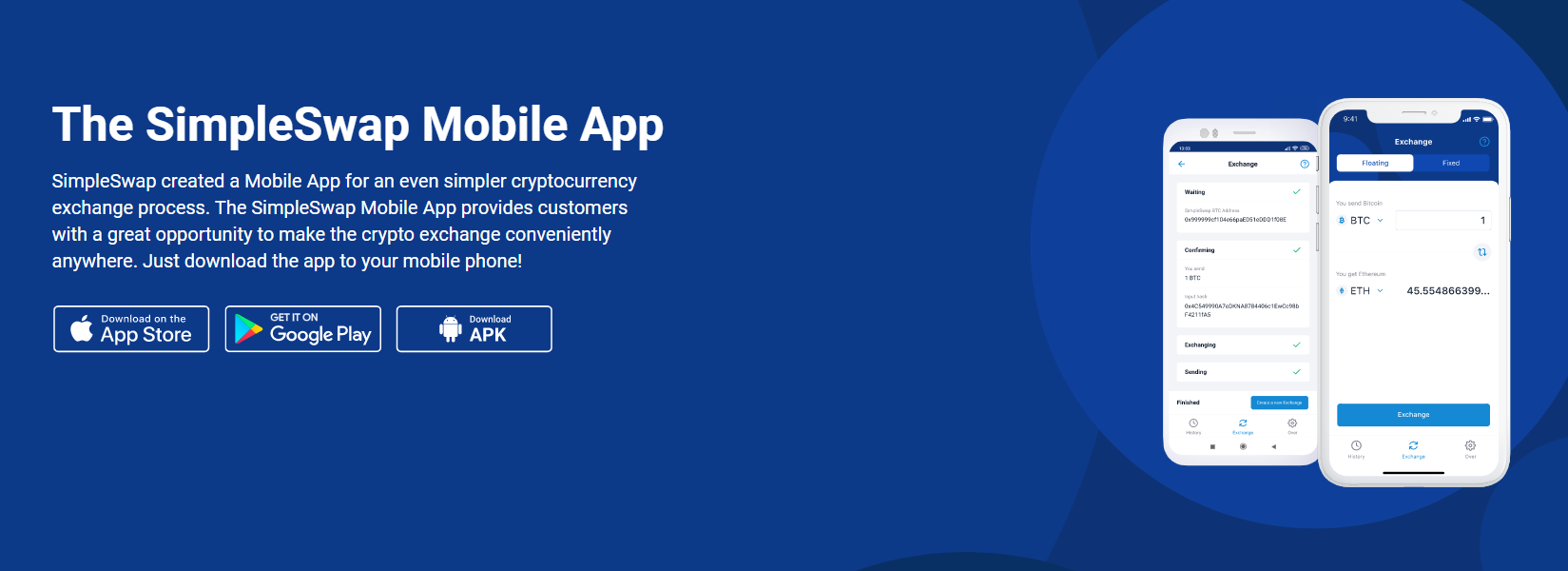 SimpleSwap Mobile Support