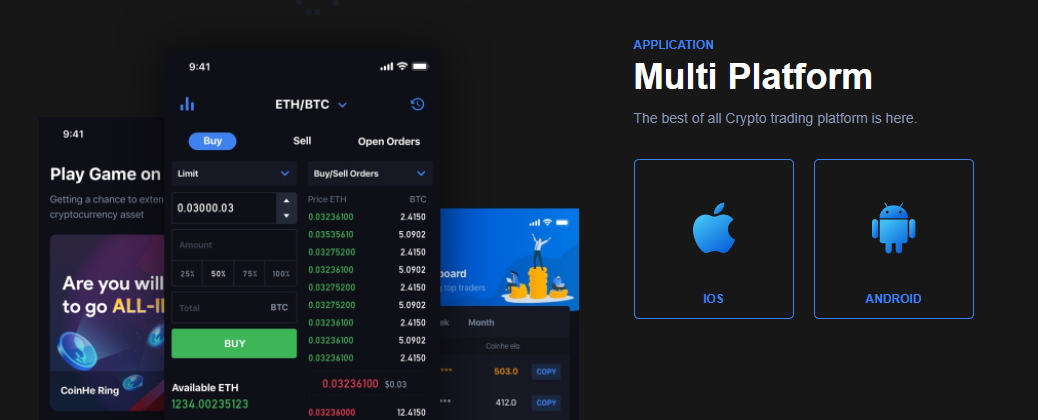 CoinHe Mobile Support