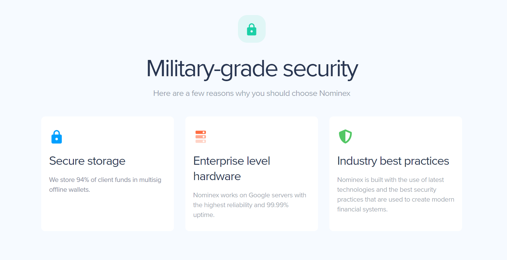Nominex Military Grade Security