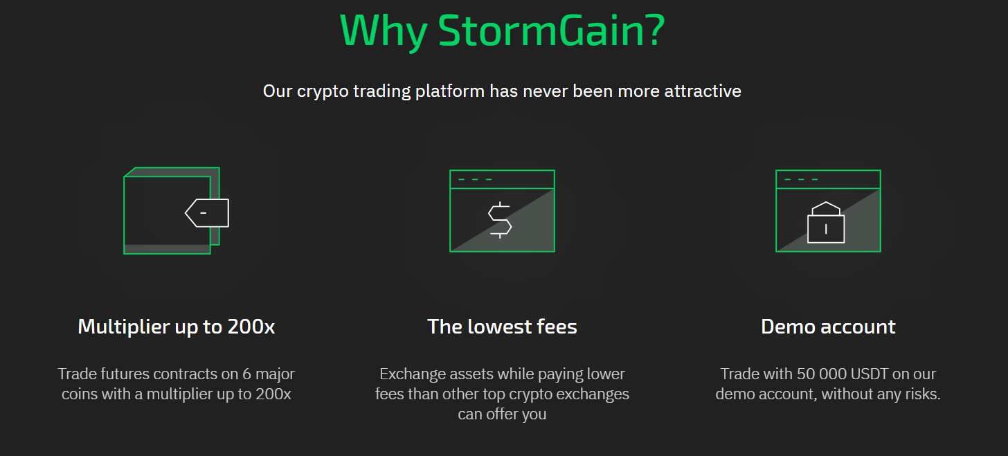StormGain Advantages