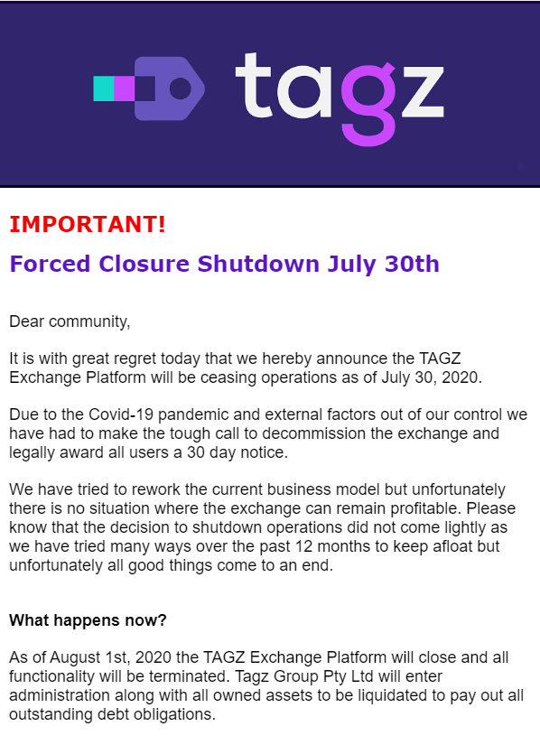 TAGZ Closing Message