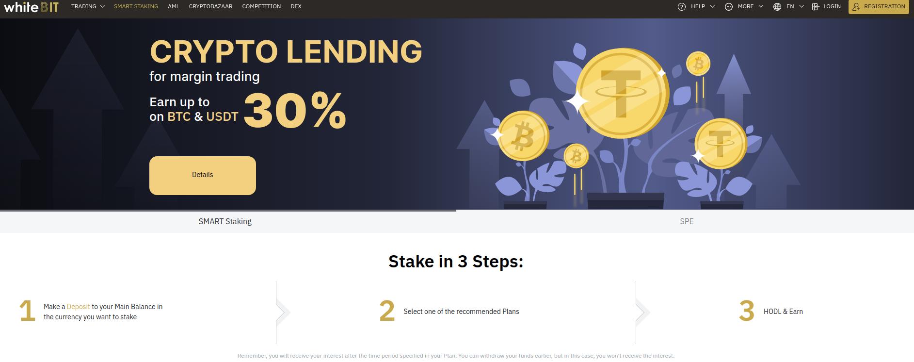 Whitebit Staking Lending
