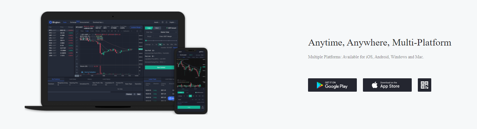Bingbon Mobile Support
