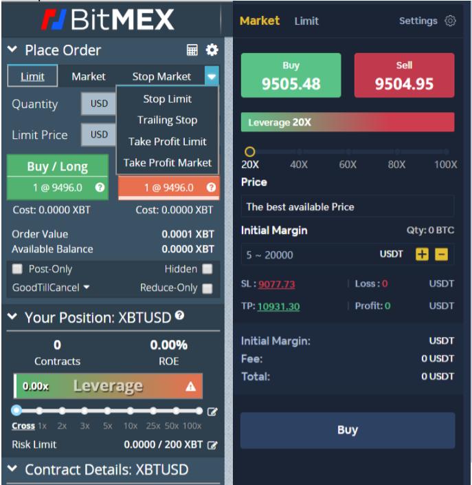 Bityard vs BitMEX