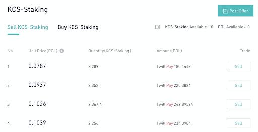 KuCoin Staking Platform