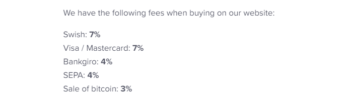Safello Trading Fees